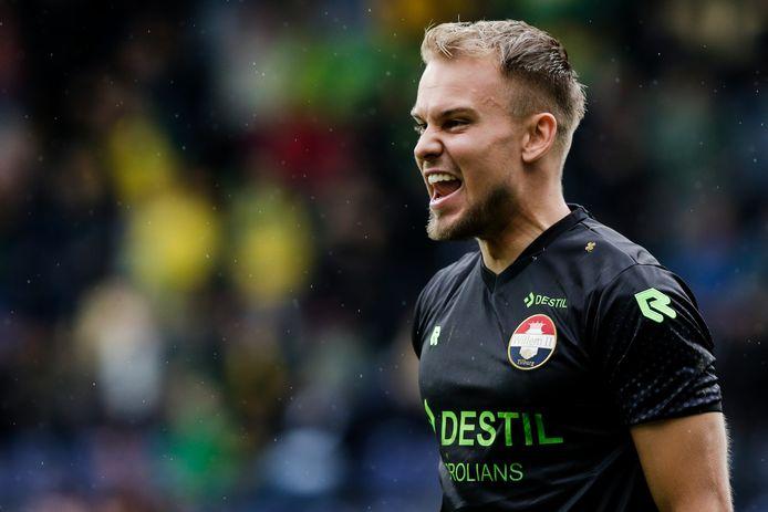 Timon Wellenreuther had reden tot lachen in Sittard, waar hij de zege van Willem II met enkele reddingen over de streep trok.
