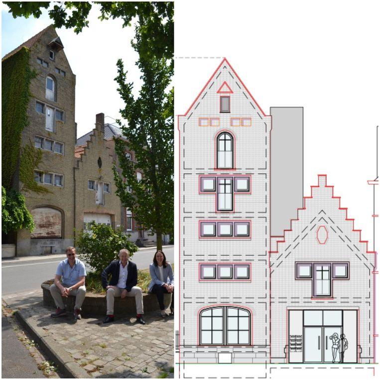 Een voorstelling van het bouwproject in de Vaartstraat in Gistel.
