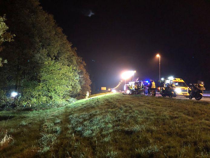 Ernstig ongeval op de A50 tussen Epe en Heerde.
