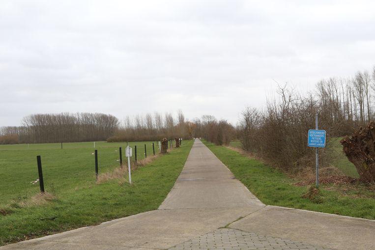 Ook op deze fietsroute naar het centrum van Zoutleeuw trof men al enkele schroeven aan.