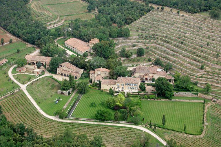 Een blik op Château Miraval.