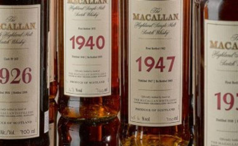 De geveilde whisky maakte deel uit van een collectie van honderden flessen.