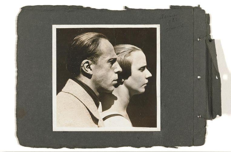 Theo en Nelly van Doesburg, Dubbel zelfportret, 1921. Beeld Rijksmuseum