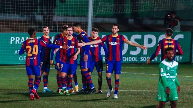 Barcelona pas na verlengingen voorbij reuzendoder Cornellà in Copa del Rey