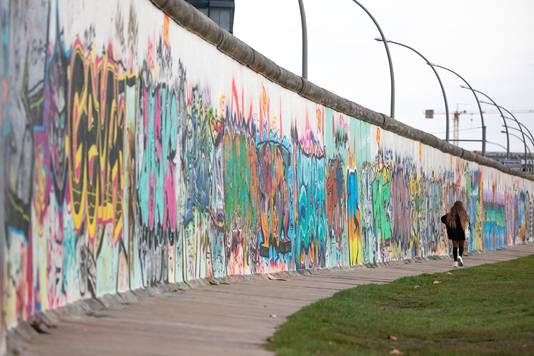 Een deel van de Berlijnse muur.