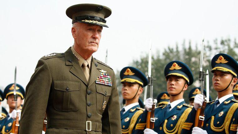 Generaal Dunford woensdag in Peking. Beeld EPA