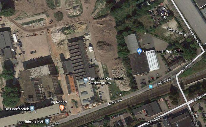 Het terrein naast KVL, waar de Boerenbond en de Lidl zijn voorzien. Polimeks wil er nu ook een parkeergarage.