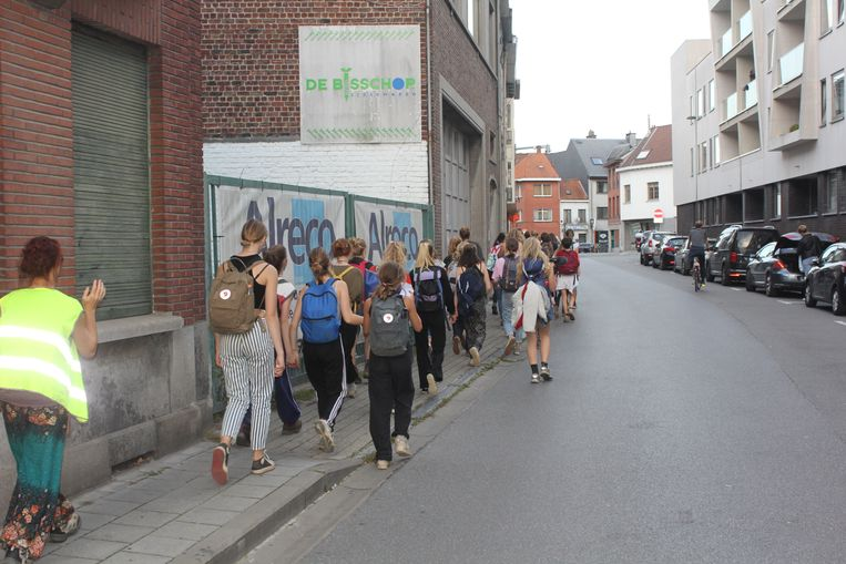 De klimaatmars passeerde in Aalst.