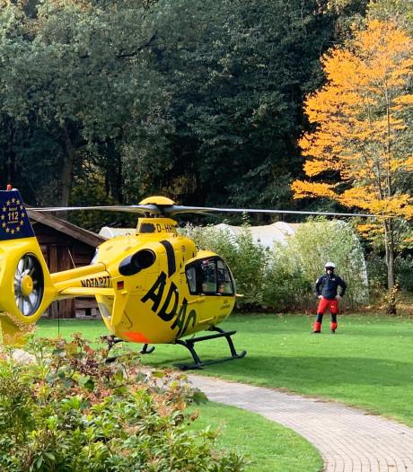 Traumahelikopter ingezet na ongeluk met mountainbiker in Hellendoorn