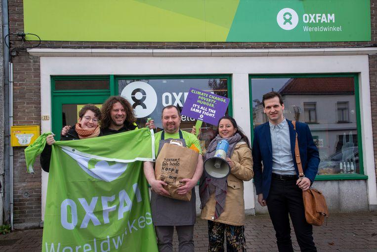 Oxfam nam haar nationale promotiefilm op in de wereldwinkel van Laarne.