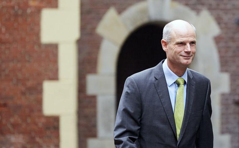 Stef Blok, in 2016 minister voor wonen en rijksdienst, arriveert op het Binnenhof voor de wekelijkse ministerraad. De keuze van premier Rutte voor Blok als minister van buitenlandse zaken is een veilige. Beeld ANP