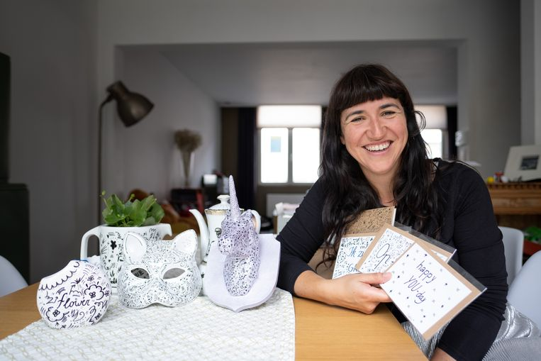 Siska Briffa richtte haar eigen kunstbedrijfje SiskArt op