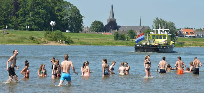 Zwemmen in de Lek tussen Wijk bij Duurstede en Rijswijk