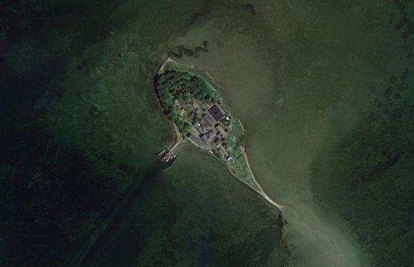 Lindholm, het Deense eiland waar de asielzoekers zullen verblijven.