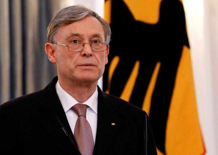 Horst Köhler in 2010, toen hij nog president van Duitsland was.