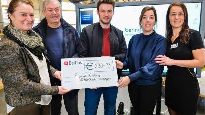 Maarten Nulens ontvangt cheque van 2.304,73 euro ten voordele van Zorghuis Limburg