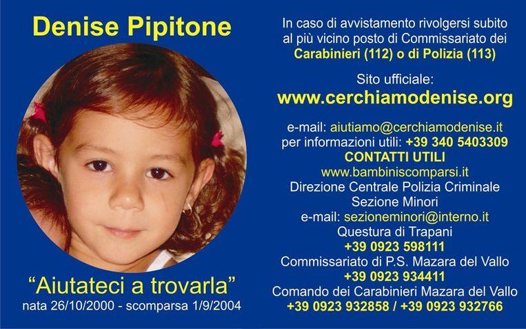 De poster die de Italiaanse politie verspreidde Beeld