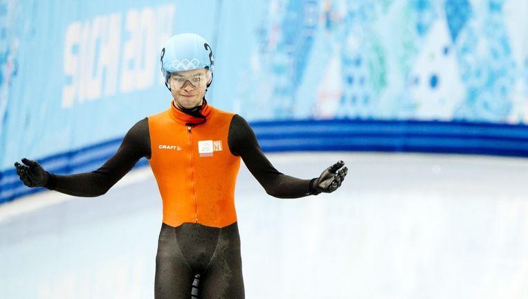 Sjinkie Knegt tijdens de 500 meter Beeld anp