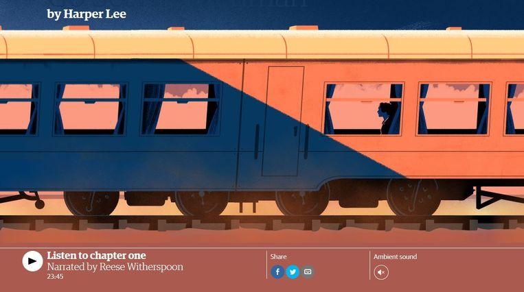 Screenshot van de interactieve presentatie van het hoofdstuk op de website van The Guardian. Beeld screenshot