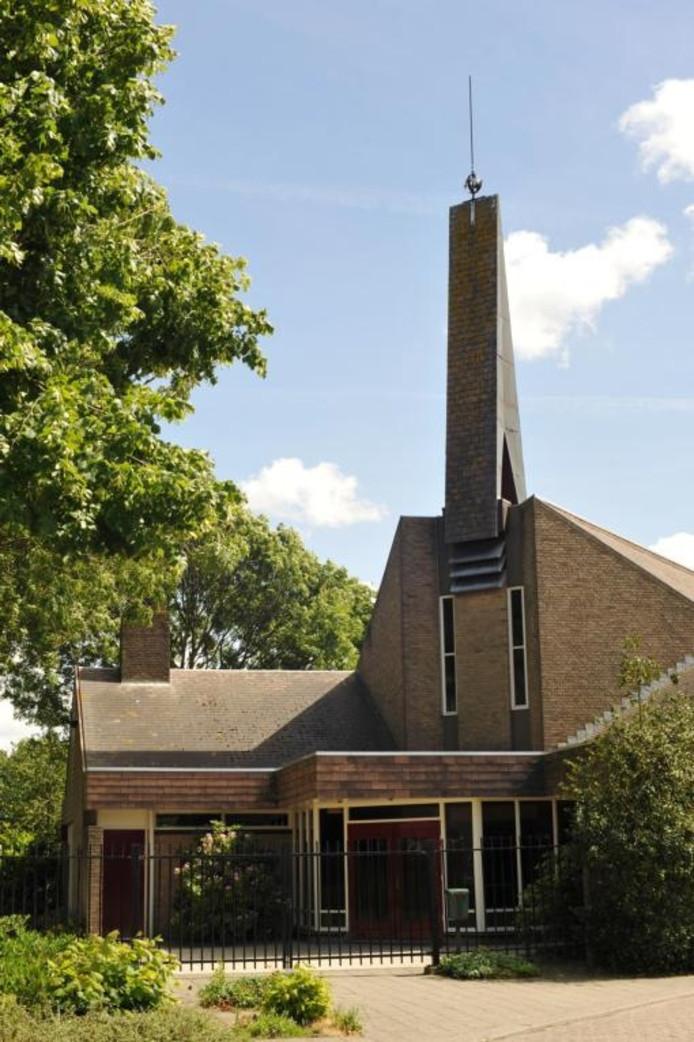 De kerk aan de Prins Florisstraat.