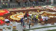 Gigantisch bloementapijt uitgerold op Grote Markt in Brussel