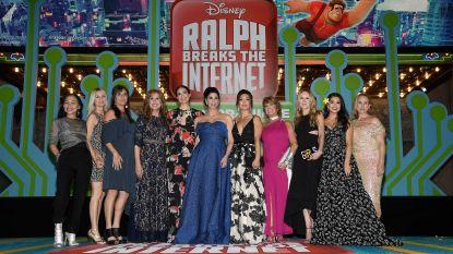 Disney-prinsessen samen op de rode loper voor 'Ralph Breaks The Internet'