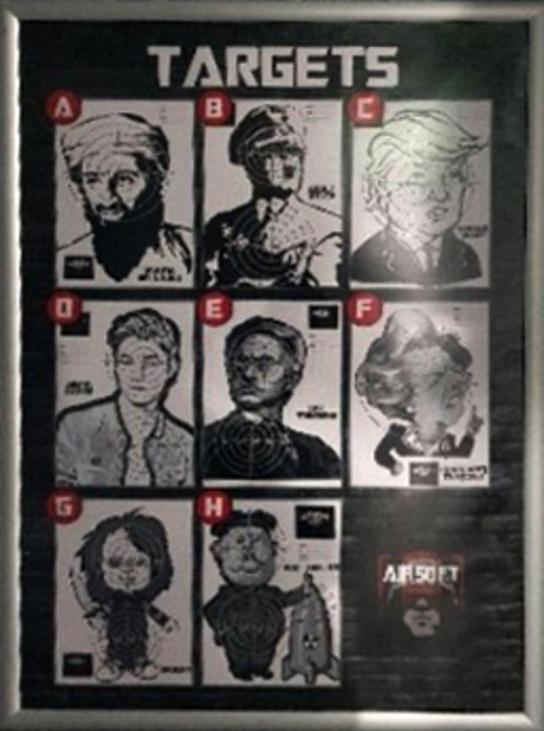 Op de banen kan ook op doelen van Osama bin Laden, Hitler en Donald Trump worden geschoten.