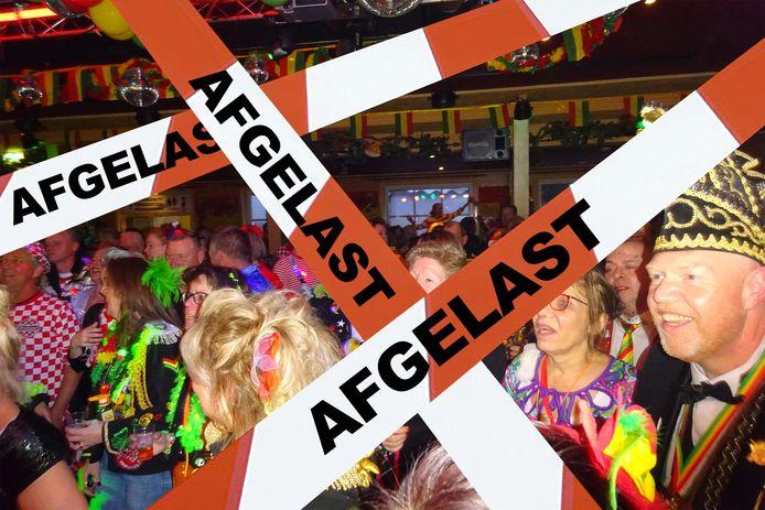 Deze beelden van feestende en dicht bij elkaar staande mensen wil men niet zien en dus wordt carnaval afgelast.