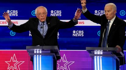 Biden en Sanders in debat, zonder publiek vanwege corona