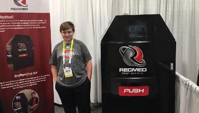 """Taylor Rosenthal, 14 ans, présentera son invention à la célèbre bourse """"TechCrunch Disrupt"""" de New-York."""