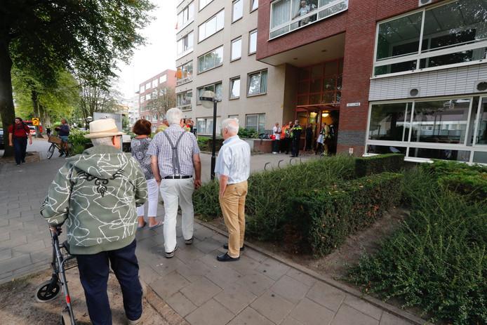 Brand bij een zorgcentrum in Eindhoven.