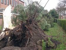 Overzicht stormschade in Enschede