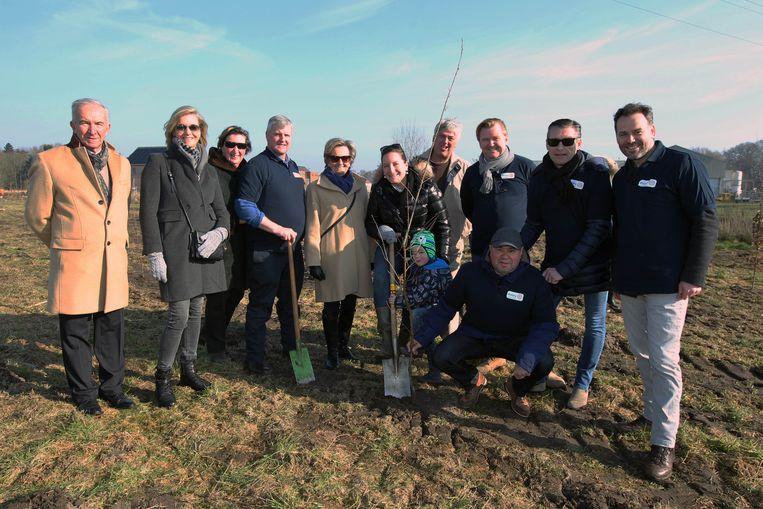 Rotary steunde in februari vorig jaar de aanplant van het geboortebos in Eeklo.