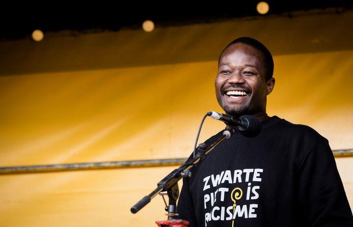 Anit-Zwarte Piet-activist Jerry Afriyie van Kick Out Zwarte Piet