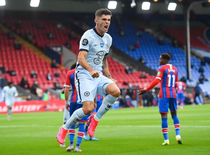 Christian Pulisic viert de 0-2 tegen Crystal Palace.