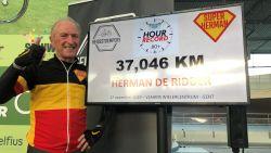Herman De Ridder (82) verpulvert Belgisch uurrecord voor tachtigplussers