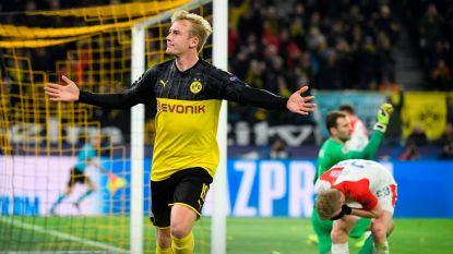 Borussia Dortmund heeft veel moeite met Slavia Praag, maar overwintert wel in Champions League
