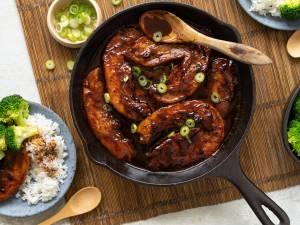 Wat Eten We Vandaag: Gekaramelliseerde speklapjes met rijst