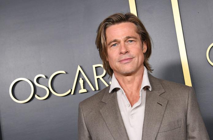 L'acteur américain Brad Pitt au déjeuner des nominés aux Oscars 2020 à Hollywood, le 27 janvier 2020.