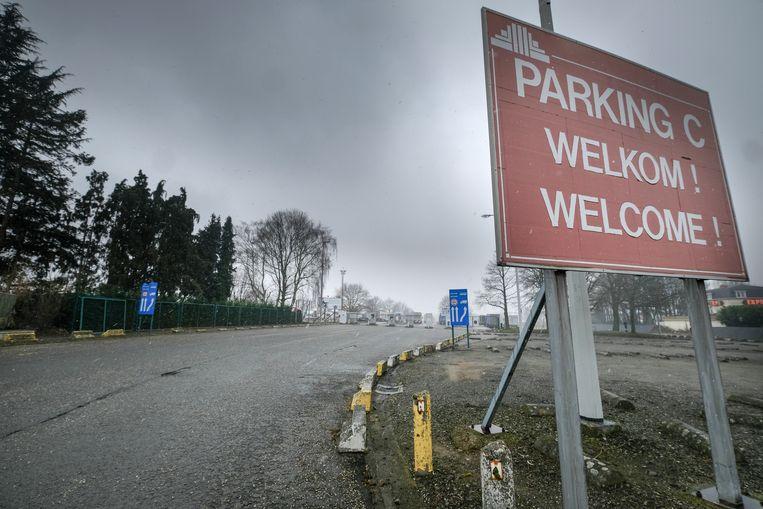 Parking aan de Heysel.
