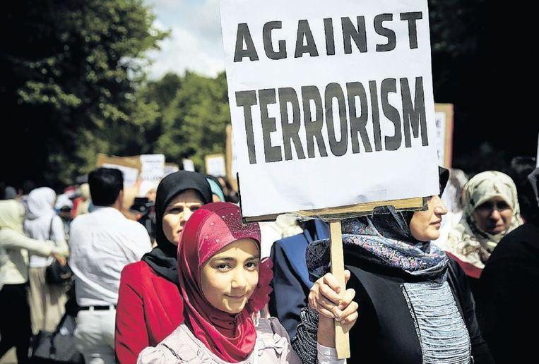 Sjiieten demonstreren in Den Haag tegen het terrorisme in Irak. Beeld Phil Nijhuis