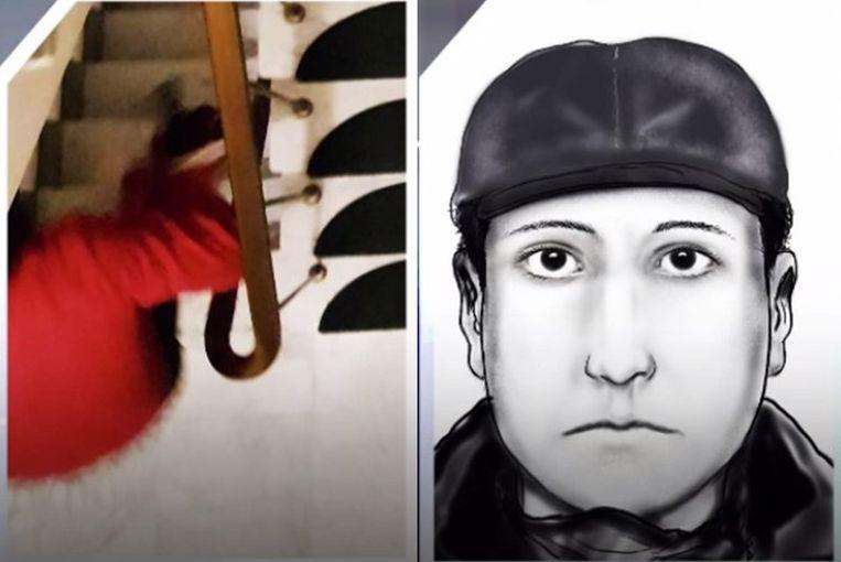 De robotfoto van de verdachte werd verspreid via het opsporingsprogramma Faroek.