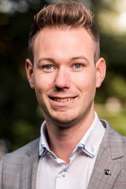 Wethouder Kevin van Oort (GroenLinks) van de gemeente Geertruidenberg.