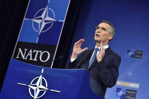 NAVO-generaal Jens Stoltenberg deze week in Brussel.