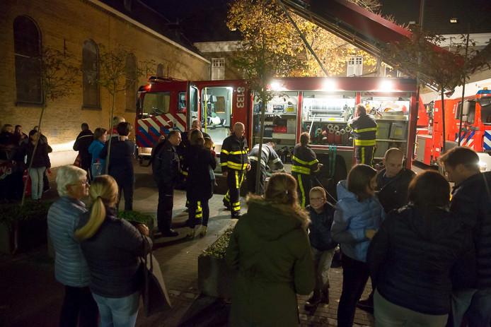 Grote opkomst bij brandweeroefening in Wouw.
