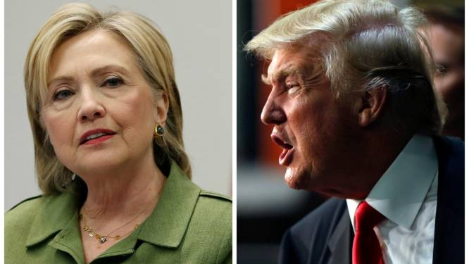 Clinton heeft voorsprong van acht procentpunt op Trump