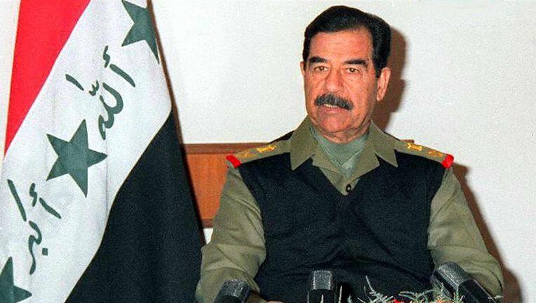 Saddam Hussein in 1999. Beeld epa