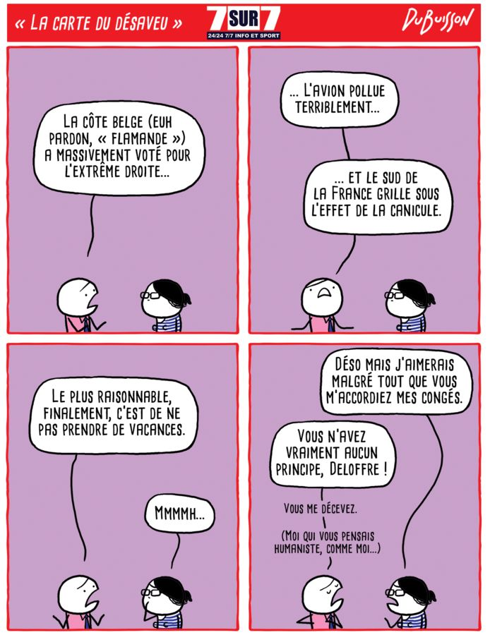 """""""La carte du désaveu"""", 28 juin 2019"""