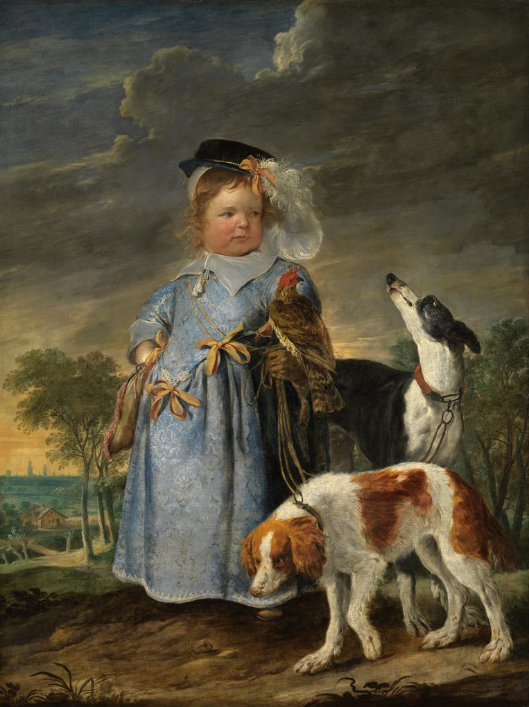 'Portret van een jongen als jager', circa 1630-1661. Erasmus Quellinus II en Jan Fijt. Beeld RV