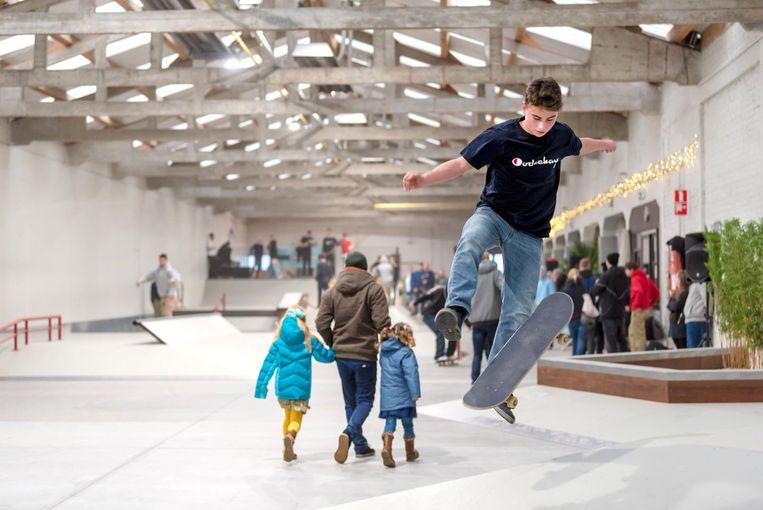 Het skatepark werd afgelopen weekend uitvoerig getest.